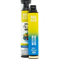 Big Bar Max Flow Duo Disposable - Peach Lemonade Ice & Blue Razz Lemon Ice